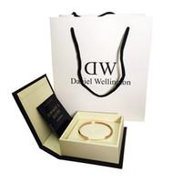 Wholesale Abalone Bracelets - High quality DW Bracelets Cuff Rose Gold Silver Jewelry Stainless steel Men Men's Bangle Silver Women Women's Bracelet with Original box