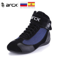 genuine biker boots 2018 - ARCX Motorcycle Boots Riding Boots Men Biker Moto Shoes Genuine Cow Leather Motorbike Biker Chopper Cruiser Touring Ankle Shoes