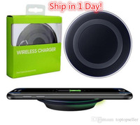 Wholesale Wireless Charge Pad - Qi Fast Wireless Charger Charging Pad for Samsung Galaxy S6   S6 Edge Ship in 1 Day