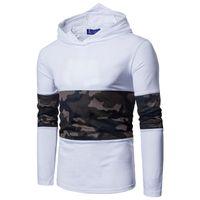 мужские рубашки оптовых-Эластичный хлопок камуфляж сетка ткань сращивание мужская cap assassin с длинными рукавами футболки