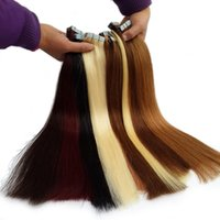 Wholesale skin weft hair extensions for sale - Best Skin Weft Tape In Human Hair Extensions Peruvian Straight Remy Human Hair quot quot quot quot g pieces Factory Outlet Cheap