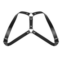 ремень безопасности мужчин оптовых-YiZYiF Sexy Men Shoulder Harness Belt Lingerie Adjustable Body Chest Harness Bondage with O Rings and Buckles for Gay Costume