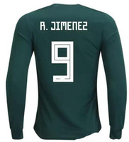 Wholesale 18 r - Mexico Cheap 18-19 long sleeve Thai Quality Soccer Jerseys shirts,Customized 14 J.Hernandez Chicharito 10 G.DOS SANTOS 9 R. Jimenez wear