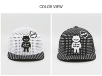 Wholesale Baby Personalities - 2018 Children's Hat Super Cute Black And White Soft Hat Caps Personality Baby Handsome Baseball Caps Visor MZ001