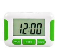 temporizadores de plástico al por mayor-Alarma LCD digital de cocina temporizador de cuenta regresiva con el soporte temporizador de cocina cocina práctica temporizador despertador