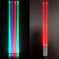 plastik çubuklar toptan satış-Lüminesans Chopsticks LED Yıkanabilir Hediye Gıda Sınıfı Plastik Flaş Işığı Sopa Vokal Konser Oyuncak Çocuklar Için Yaratıcı 11 8yx V