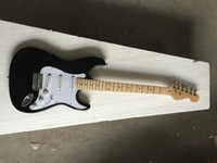Wholesale beautiful hand guitar for sale - Group buy Top Quality cheap price GYST Black color with white pearl plate maple fretboard beautiful Electric Guitar Be Customized