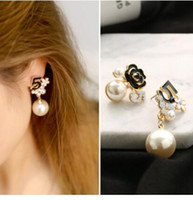 Wholesale letter e charm - New ! Fashion Fine Jewelry Sparkling Gold Color Zircon Letter D Individuality Stud Earrings For Women Girl Gifts E-21