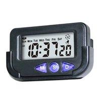 taşınabilir dijital saatler toptan satış-Taşınabilir Cep Boyut Dijital Elektronik Seyahat Çalar Saat Despertador Dijital Led Saat İçin Araç Elektronik Masası