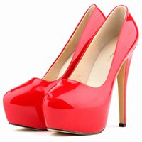 Wholesale ladies stylish shoes online - Fashion Women Sexy Pumps Shoes Ultra stylish Nightclub Style High Heel Bridal Super High Wedding Red Lady Office Shoes817 PA