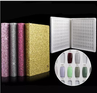 Wholesale newest gel nails - Newest Colors Nail Gel Polish Display Book Nail Practice Chart Natural Nail Art Salon set