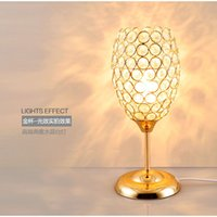 Wholesale Crystal K9 Table Lamp - TUDA 15X32cm Free Shipping Creative Personality K9 Crystal Lampshade Table Lamp Modern Design LED Table Lamp For Bedroom E27