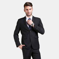 Wholesale navy blue suit skinny fit for sale - Group buy Handsome Black Men Suits Skinny Wedding Suits Custom Made Bridegroom Business Slim Fit Formal Tuxedos Piece Blazer Prom Jacket Pants