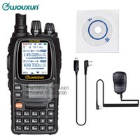 Wholesale Wouxun Mic - Wholesale-NKTECH Programming Cable & Remote Speaker Mic and WouXun KG-UV9D VHF UHF 136-174 400-512MHz Car Charger Two Way Radio