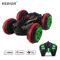 Wholesale remote control water toys - 1:18 Stunt RC Car 360 Rotate Remote Control Car Driving on Water and Land Amphibious Electric Toys for Boys Gift