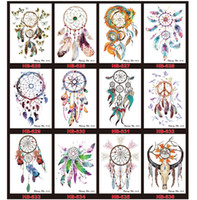 Wholesale fake feet - Wholesale- 60 Pieces   lot Waterproof Body Art Flash Tattoo Sticker Tatouage Transfer Temporary Fake Tatto Henna Maquiagem Makeup Removable