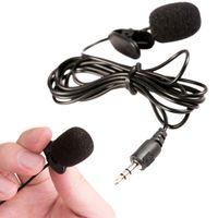 micrófonos para la enseñanza al por mayor-Marsnaska Portable 3.5mm Mini Auricular Micrófono Micrófono de solapa Clip de solapa Micrófono para conferencia Docencia Guía de conferencia Micrófono de estudio
