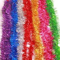 cinta decorativa flores al por mayor-Fiesta cumpleaños boda Día de San Valentín cintas decorativas artículos de lana suministros para vacaciones Flores navideñas rayas de colores