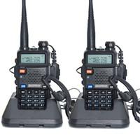 vhf radio uv 5r al por mayor-2pcs uv-5r versión de alta potencia tril power baofeng real 8w para radio bidireccional VHF UHF banda dual portátil walkie talkie uv 5r