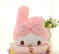 Wholesale Air Conditioned Bedding Quilts - Multifunction Dual-use Plush Doll Hello Kitty Pillow Air Condition Blanket Sleep Cover Cushion Quilt Bedding Car Seat Back Rest