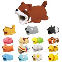 Wholesale doll cats for sale - Cable Bite Protector for Iphone cable Winder Phone holder Accessory chompers rabbit dog cat Animal doll model funny