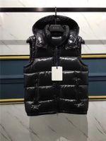 ingrosso maglia invernale stile uomo-Nuovo prodotto Winter England Men Style Down Jacket Warm vest for men Giacca senza maniche stile francese Giacca nera con cappuccio