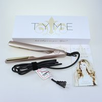 Wholesale roller flats - TYME Iron Gold Plated Titanium Plates Hair Straightener Flat Irons Fast Hair Straightening Ceramic TYME Rollers