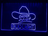 ingrosso neon di bud-A116b- Bud Light George Strait Bar Pub LED segno luce al neon