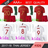 Wholesale national children - 2018 Portugal kids kit Jerseys World Cup home ronaldo 18 19 away Silva Guedes nani national team child football jersey shirts SOCK