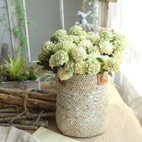tomurcuk topu toptan satış-Yapay Çiçekler Krizantem Çiçek Topu Bud Sahte Çiçek Şube Ev Dekor Düğün Ev Vazolar Dekorasyon Için