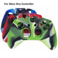 xbox one control skin case venda por atacado-Frete grátis camuflagem protetora suave silicon gel tampa da pele caso capa para xbox one controlador camuflagem azul / vermelho / verde