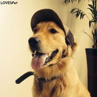 2018 Vendita calda Cappello da sole per cani Cappelli di cane traspirante  carino per animali domestici Caschi di cotone casuali Cappellino chihuahua  ... e8bec62f886a