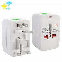 Wholesale travel adapter surge protector - Travel universal wall charger power adapter for plug Surge Protector Universal International Travel Power Adapter Plug (US UK EU AU AC Plug)
