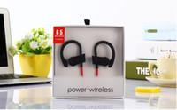 Wholesale Waterproof Headphones For Iphone - Universal Bluetooth Earphones Waterproof Headphones Stereo Bass Headset Sport Earpieces Ear Hook Earbuds G5 brand power 3 With Mic