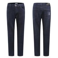 бесплатная доставка материалы одежда оптовых-Castello dOro jeans men 2018 spring new arrival comfort casual excellent material embroidery popular clothing free shipping