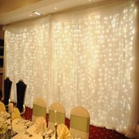 luces caseras de la boda de la decoración led al por mayor-Twinkle Star llevó una luz de hadas 300 LED Cortina de ventana String Light Wedding Party Home Garden Dormitorio Exterior Interior Decoraciones de pared