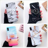 держатель стойки оптовых-Sheeny Soft TPU Support Cover расширяемый кронштейн держатель телефона подставка мраморный чехол для iPhone Xs Max XR X 6 6S 7 8 Plus