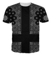 ingrosso uomini di camicia bandana-Nuovi uomini / donne di arrivo Bandana 3D stampato T-shirt Summe Style Fashion Casual di alta qualità T-shirt S-XXXXXXXL U500