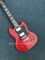 Wholesale Guitarra Custom Shop - Free Shipping Factory custom shop New High-quality red sg custom electric guitar guitarra Chrome Hardware
