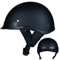 Wholesale retro motorcycles helmets online - Retro and Vintage Half Open Face DOT Approved Motorcycle Helmet for Man and Woman S M L XL