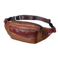 модные кошельки оптовых-Урожай натуральная кожа воловья талия сумки Мужчины путешествия Hip Bum Belt Pouch кошельки
