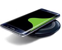cargador inalámbrico s6 dhl al por mayor-Universal Qi Wireless Charger Pad Power Fast Charging para S6 S6 Edge S7 S7 Edge iPhone 8 X 7 con Retail Box puede liberar DHL