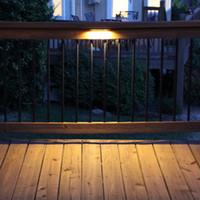 kat terası toptan satış-AC DC 12 V LED Güverte Adım Istinat Duvar Işık Su Geçirmez Açık Bahçe Hardscape Peyzaj merdiven laminat parke teras aydınlatma