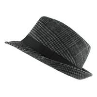 Wholesale Pure Jazz - New Fashion Pure men Women's Large Brim Caps fedoras Floppy Jazz hat Vintage Popular wool caps