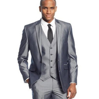 Wholesale new design men formal suit for sale - Group buy Wedding Formal Men Suits New Design Notched Lapel Two Button Three Piece Custom Made Business Groom Tuxedos Jacket Pants Vest