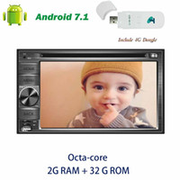computador android para tv venda por atacado-4G dongle + Double din Eincar 6.2 '' GPS Navegação Headrunit Android 7.1 Car DVD Player computador PC Octa-core de Rádio Estéreo Autoradio Bluetooth