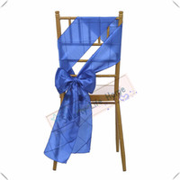 Wholesale Royal Blue Chair Sashes   Royal Blue Sashes Pintuck Taffeta Chair  Sash Chair Bows For