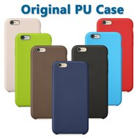 Wholesale light logo back - Original Official Leather PU Case For Apple Iphone X 8 Plus 7 6 6S SE 5 5S With OEM Back LOGO Soft Slim Cover Cases Ultra Slim Back Leather