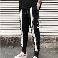 Wholesale mens punk trousers for sale – denim High quality men streetwear hip hop harem pants elastic punk zipper trousers mens joggers casual sweatpants pantalon homme