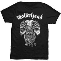 ingrosso moda giovani uomini neri-Maglietta Motorhead T-Shirt Hiro Double Eagle Warpig Logo Maglietta ufficiale Mens Summer Young Hot Cheap Uomo nuova 2018 Summer Fashion